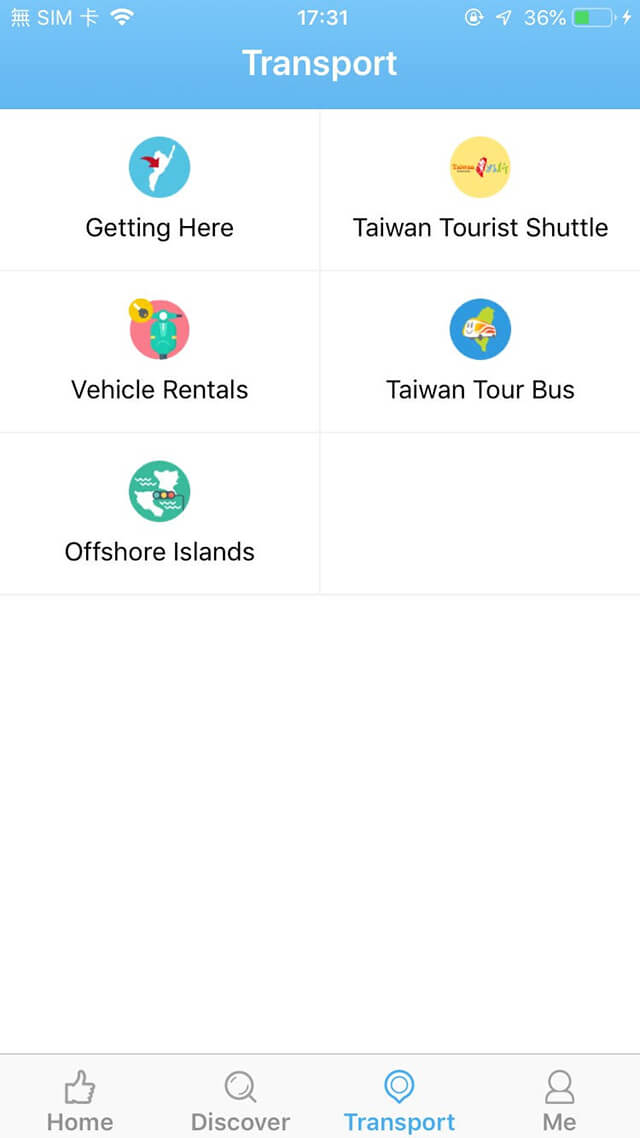 Travel Taitung APP Screenshots-Transport