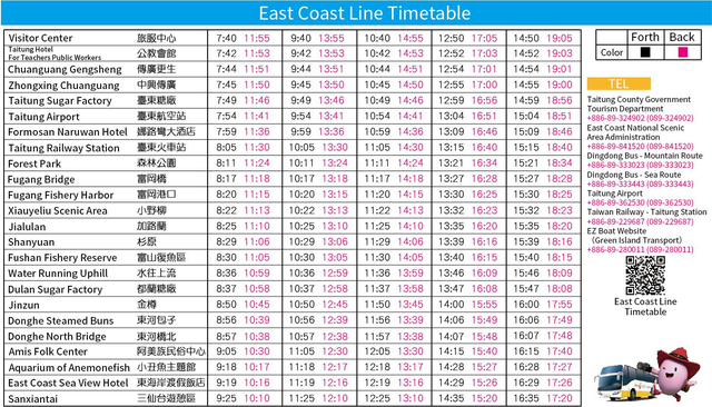 East Coast Line Timetable
