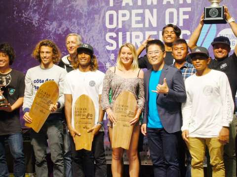 ​2016 Taiwan Open of Surfing hosted by Taitung County Government had come to a beautiful end today