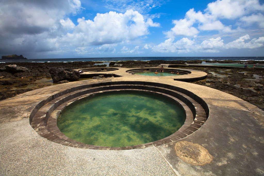 綠島打卡景點,最美海底溫泉-朝日溫泉