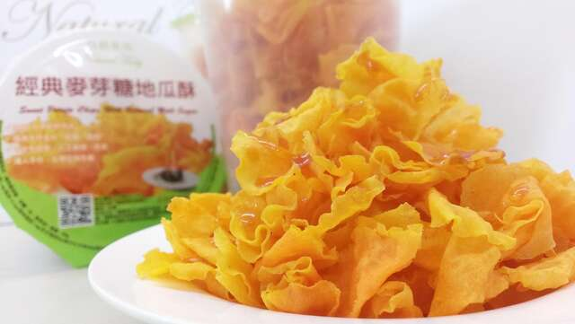 Natural tasty sweet potato chips