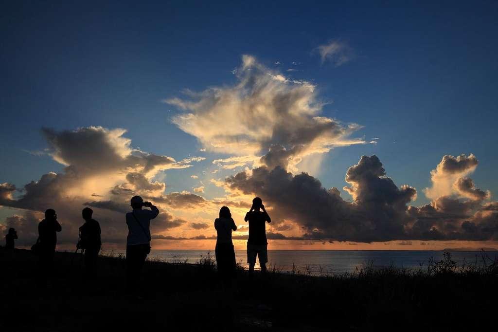 海濱公園看日出